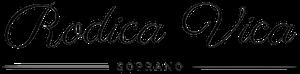 Rodica Vica soprano Logo